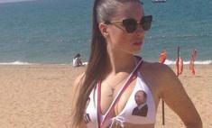 Девушки в Крыму носят купальники с Путиным