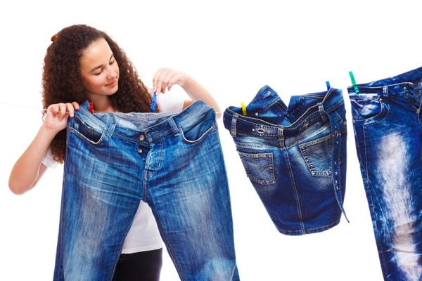 Избавить джинсы от краски