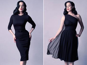 Дита Фон Тиз (Dita Von Teese) в платьях собственного дизайна