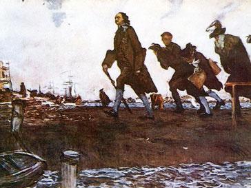 Питерцы отмечают день рождения отца-основателя города Петра Великого