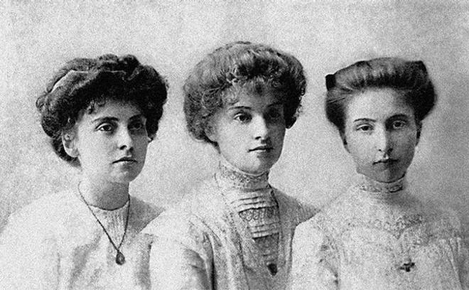 Сестры Вера, Зоя и Анна Аренс, около 1910 г.