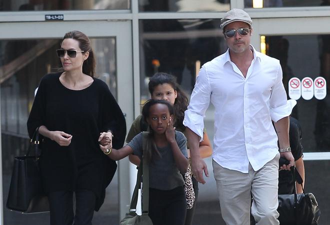 Анджелина Джоли, Брэд Питт и дочь Захара