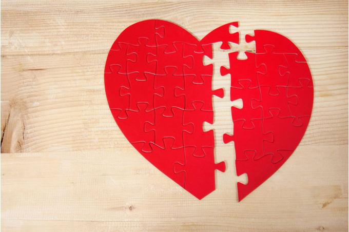 Паззл «сердце»