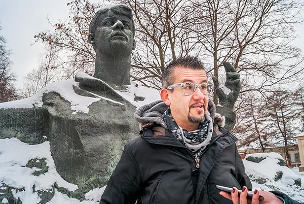 Итальянский музыкант прогулялся по Рязани и не испугался мороза