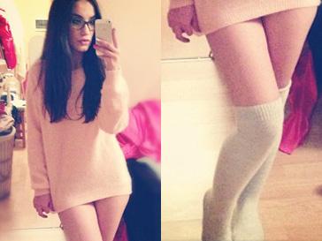 Так Виктория Дайнеко выглядит в домашней одежде