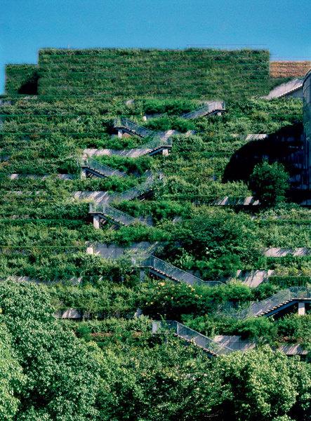 Информационно-культурный центр ACROS, архитектурное бюро Emilio Ambasz & Associates, Фукуока, 1995.