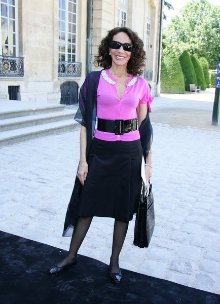 Мариса Беренсон (Marisa Berenson) на показе Christian Dior