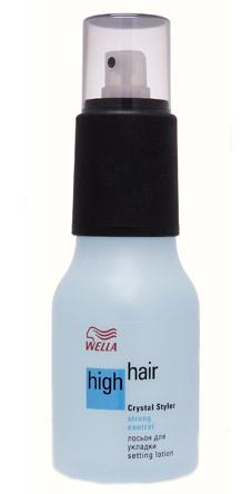 Лосьон для укладки High Hair Crystal Styler, Wella Professionals. Придает волосам объем и роскошный блеск.