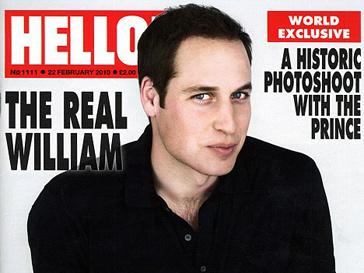 Принц Уильям на обложке журнала Hello!