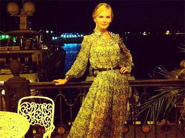 Елена Кулецкая после показа в Сочи.
