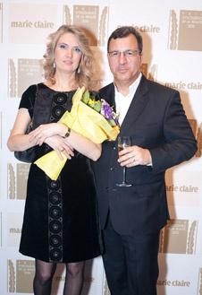 Светлана Фландинэт и генеральный менеджер Dior в России Поль Анри Дюйе