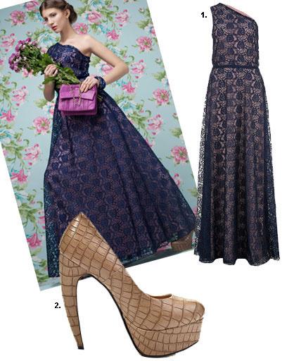 1. Платье Lamania Trend, 5 200 рублей; 2. туфли Lamania, 2 990 рублей