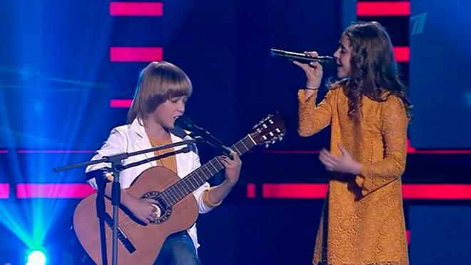Юля Сиринько и Артем Колесников на шоу «Голос.Дети»