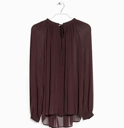 Шифоновая блузка со складками
