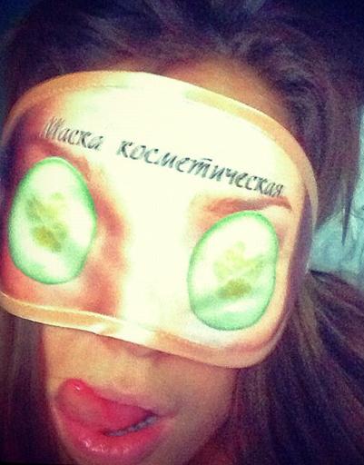 Таня Терешена - знает толк в огуречных масках