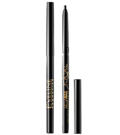 Черный карандаш для глаз Eveline Cosmetics