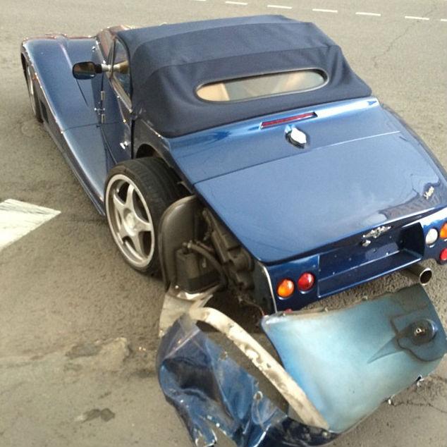 Гоша Куценко разбил кабриолет