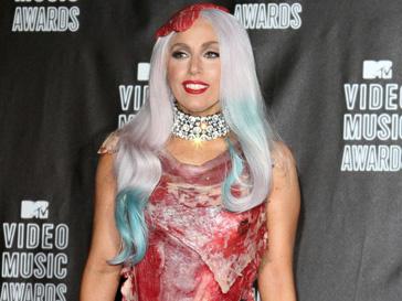 Леди Гага (Lady GaGa) шокировала всех своим нарядом