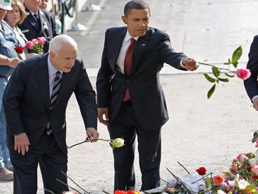 Барак Обама на месте гибели башен-близнецов в Нью-Йорке