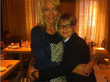 Кристина Орбакайте с младшим сыном Дени
