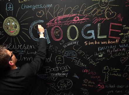 На открытие берлинского офиса Google