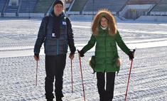 Ирина Слуцкая провела в Иркутске мастер-класс по скандинавской ходьбе