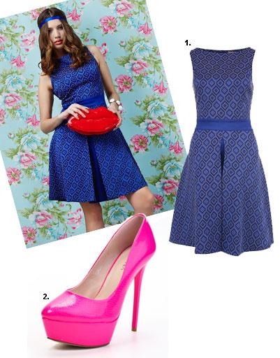 1. Платье Lamania Trend, 3 280 рублей; 2. туфли Lamania, 2 930 рублей