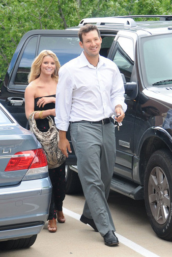 Джессика со своим бойфрендом Тони Ромо