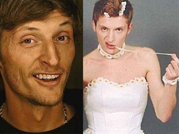 Павел Воля в роли невесты