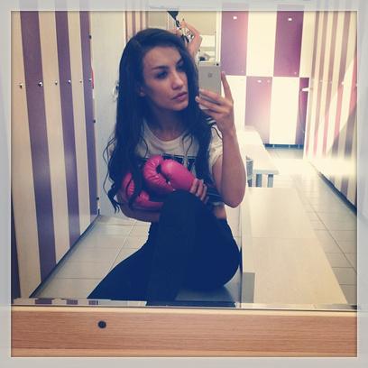 Виктория Дайнеко занимается боксом