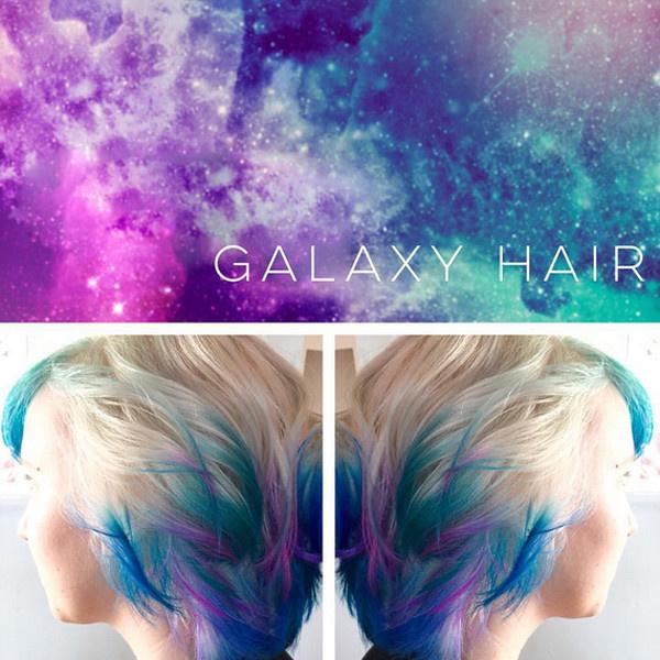 Космическое окрашивание #galaxyhair