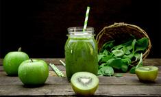 Смузи с зеленым чаем и яблоком