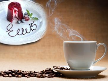 ELLE, кофе, десерт, еда
