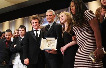 Глава жюри Шон Пенн, победитель фестиваля Лоран Канте, актеры фильма «Класс»