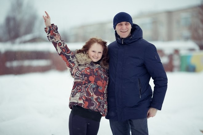 Николай и Света вдоволь нафотографировались на улице