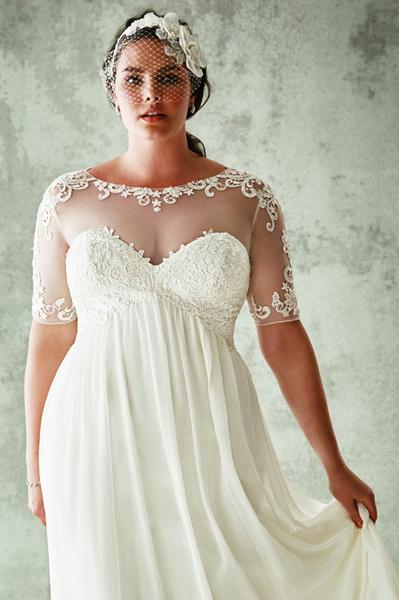 4b4e6c1550bf 5 правил выбора свадебного платья для полных девушек - Woman s Day