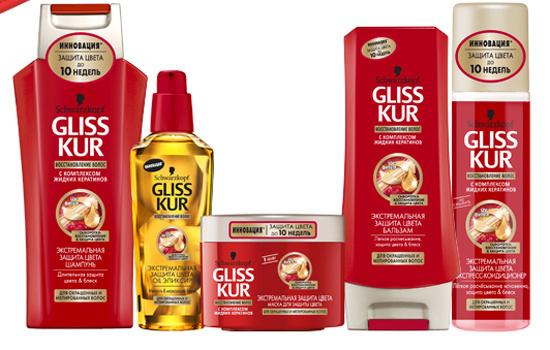 Средства из линии «Экстремальная защита цвета» от Gliss Kur