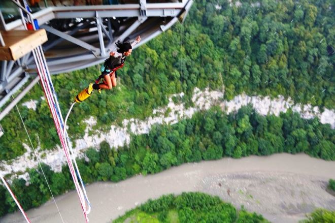скайпарк Сочи, самый длинный мост в мире, банджи-джампинг