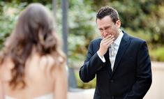 Брутальный мужчина плачет как ребенок на собственной свадьбе