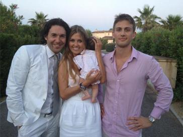 Андрей Малахов, Виктория Боня, ее дочь Энджи и муж Александр Смурфит.