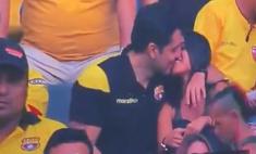 видео подозрительной реакцией мужчины камеру поцелуев посмотрели миллионов