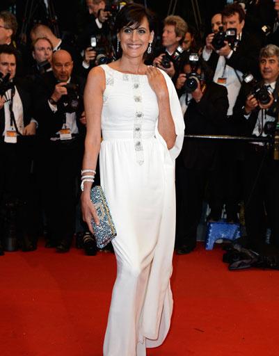 Инес де ля Фрессанж (Ines de la Fressange) на 66-ом Каннском кинофестивале