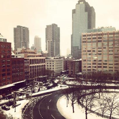 Заснеженный Нью-Йорк