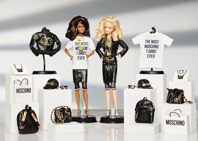 Куклы Барби в нарядах от Moschino