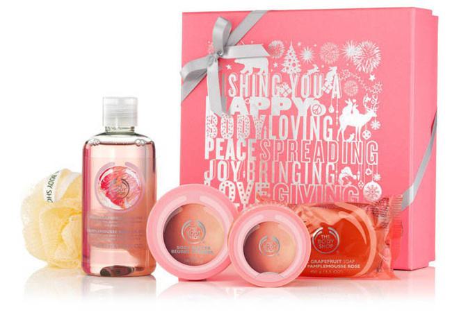 The Body Shop, набор розовый грейпфрут