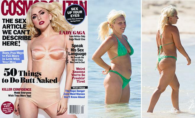 Звезды в купальниках глянец и реальность Леди Гага