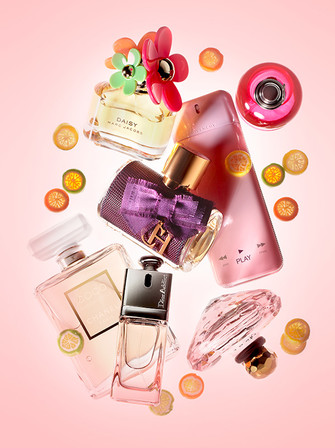 Туалетная вода Daisy Sunshine Edition, Marc Jacobs; туалетная вода Amor Amor In a Flash, Cacharel; парфюмерная вода Play for Her, Givenchy; парфюмерная вода CH Sublime, Carolina Herrera; парфюмерная вода Coco Mademoiselle, Chanel; туалетная вода Dior Addi