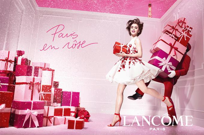 Рождественская коллекция макияжа Lancôme PARIS EN RÔSE