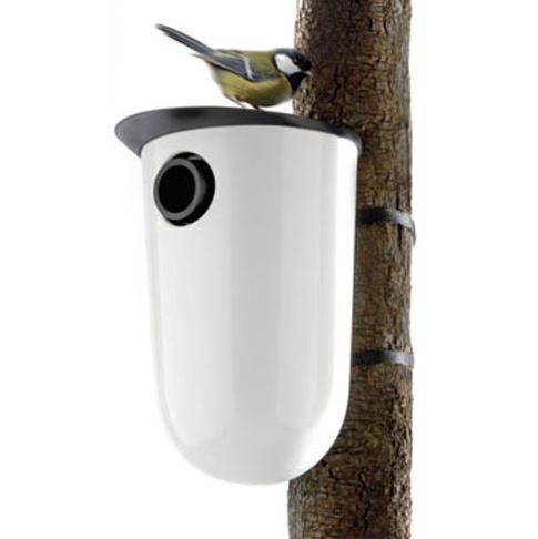 Пластиковый домик для птиц с варьируемым по размеру входом, $72 купить