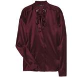 Бордовая шелковая блуза.